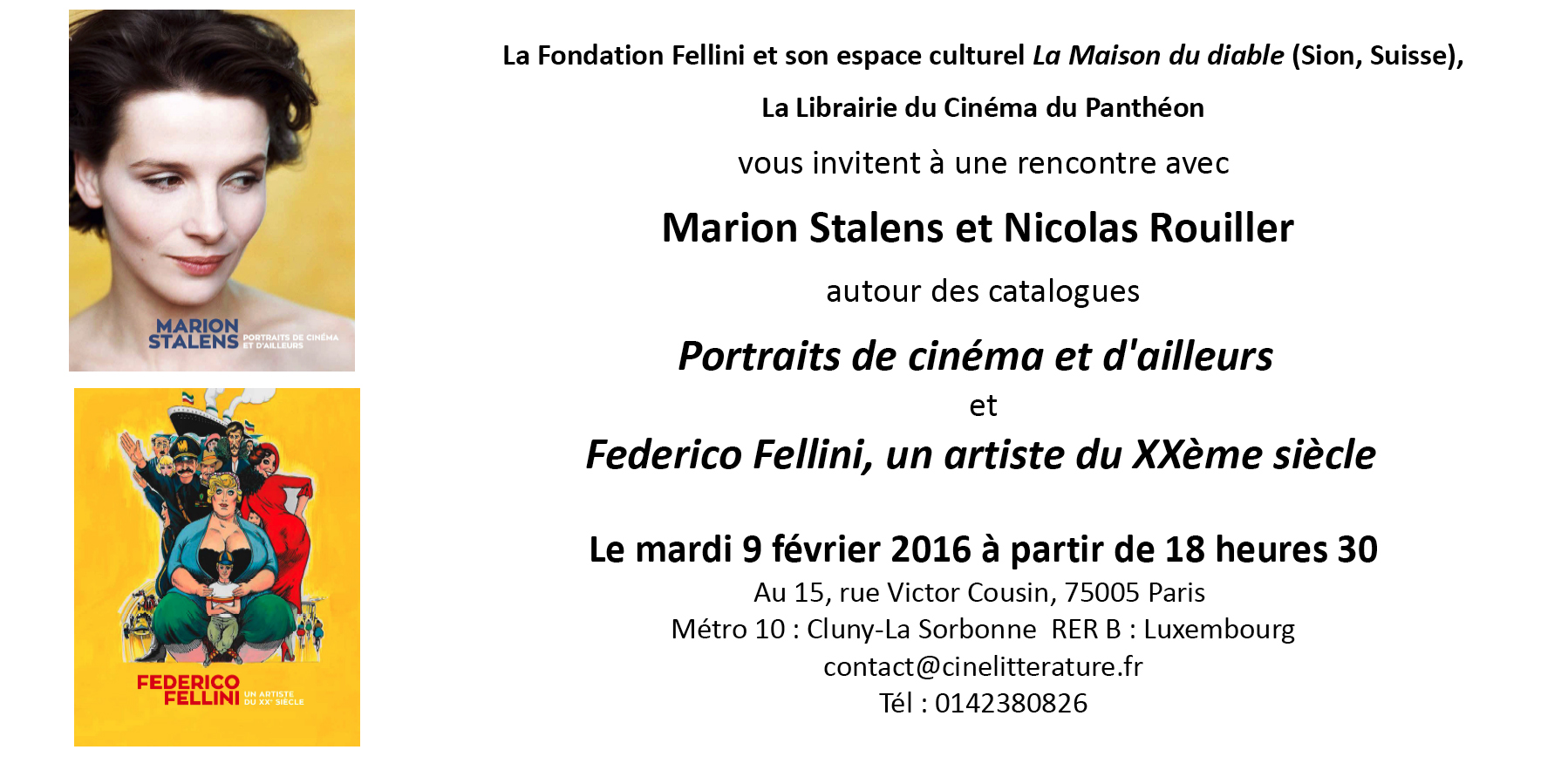 Invitation Librairie Du Cinéma